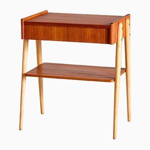 Dänischer Mid-Century Nachttisch aus Teak, 1960er