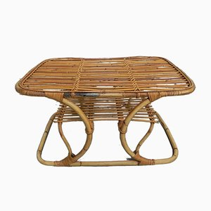 Mid-Century Rattan Coffee Table, 1950s
