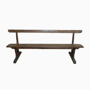 Vintage Industrial Oak and Pine Bench, 1930s