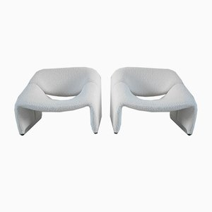 Dutch Wool Groovy Lounge Chairs by Pierre Paulin for Artifort, 1984, Set of 2