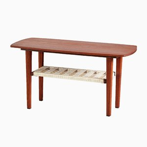 Mid-Century Danish Plastic & Teak Coffee Table, 1960s