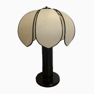 Lámpara de mesa francesa vintage de plástico, años 80