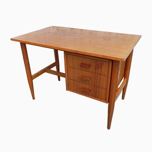 Mid-Century French Mahogany Desk, 1960s