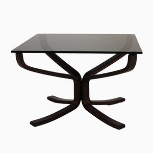Bentwood and Glass Coffee Table by Sigurd Ressell for Vatne Møbler, 1970s