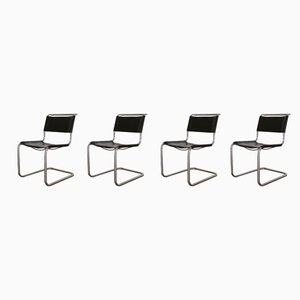 S33 Cantilever Chairs by Mart Stam for Thonet, 1980s, Set of 4