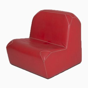 French Cow Leather Lounge Chair by Jean Nouvel for Tecno, 1990s