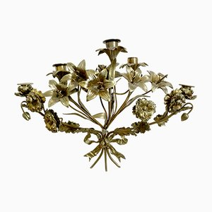 Antique French Bronze Foliage Sconce