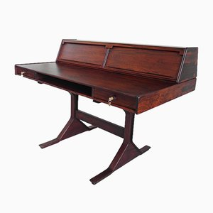 Italian Rosewood Desk by Gianfranco Frattini for Bernini, 1957