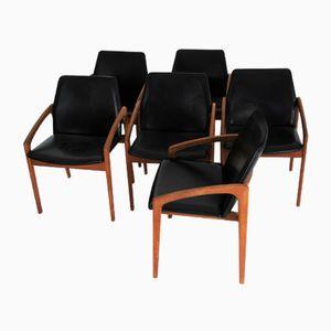 Danish Skai and Teak Dining Chair by Kai Kristiansen for Korup Stolefabrik, 1960s