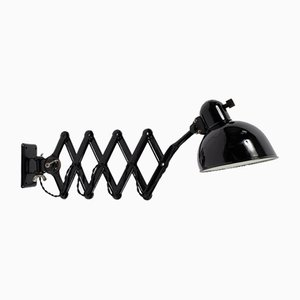 Model 6718 Enamel & Metal Scissor Wall Lamp by Christian Dell for Kaiser Idell, 1930s
