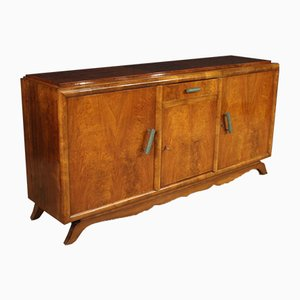 Art Deco French Mahogany and Walnut Sideboard, 1950s
