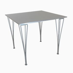 Industrial Danish Aluminum and Laminate Dining Table by Arne Jacobsen for Fritz Hansen, 2001