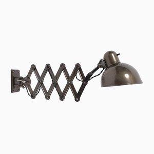 Vintage Modell 6718 Scheren-Wandlampe von Christian Dell für Kaiser Idell, 1930er
