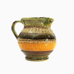 Sahara Enameled Ceramic Pitcher by Aldo Londi for Bitossi, 1960s