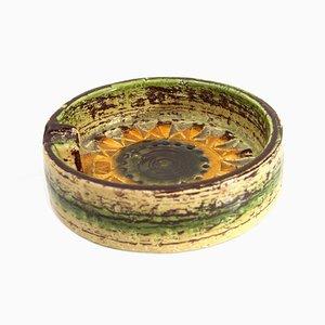 Cenicero Sahara de cerámica de Aldo Londi para Bitossi, años 60