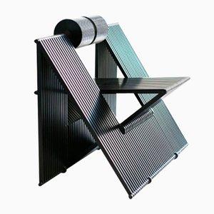 Fauteuil Quarta Vintage en Aluminium et en Polyuréthane par Mario Botta, Italie
