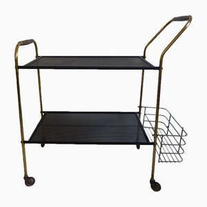 Mid-Century Brass and Steel Trolley, 1960s