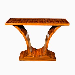 Table Console Art Déco Vintage en Palissandre, France, 1920s