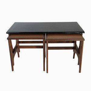 Teak & Afromosia Nesting Tables by Victor Wilkins for G-Plan, 1960s
