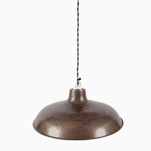Mid-Century French Steel Ceiling Lamp, 1950s