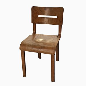 Mid-Century French Oak Folding Chair by René Gabriel, 1950s