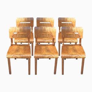Mid-Century French Oak Folding Chair by René Gabriel, 1950s