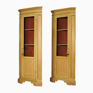 Neo-Classical Style Italian Wood Cupboards, 1960s, Set of 2