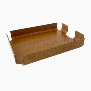 Wooden Paper Tray from Mallod, 1970s