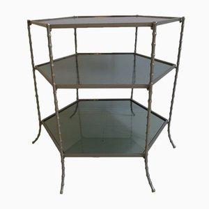 Französischer Mid-Century Beistelltisch aus Stahl von Maison Baguès, 1950er