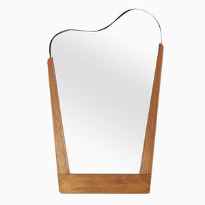 Mid-Century Harp-Shaped Mirror