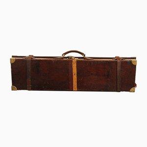 Maletín antiguo de cuero y latón de William Evans para Purdey & Sons