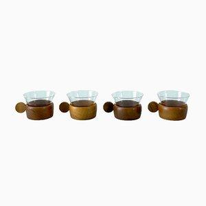 German Tea Cups from Schott/Jenaer, 1950s, Set of 4