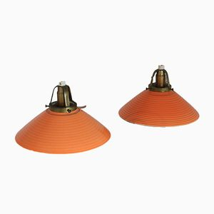 Danish Ceramic Ceiling Lamps from Søholm, 1950s, Set of 2