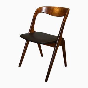 Vintage Scandinavian Sonja Teak Dining Chairs by Johannes Andersen for Vamø, 1950s, Set of 4