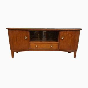 Mid-Century Glass and Metal Sideboard, 1950s