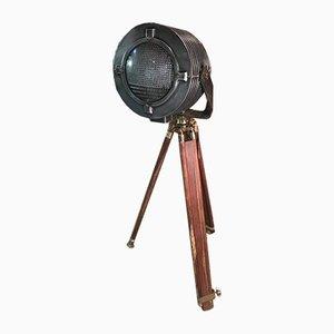 Lampadaire Projecteur sur Trépied Industriel de Sylvania, 1950s