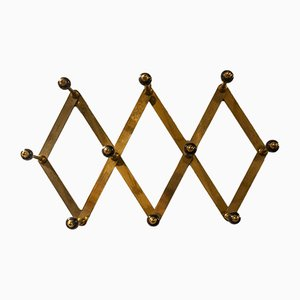 Brass Coat Rack by Luigi Caccia Dominioni for Azucena, 1950s