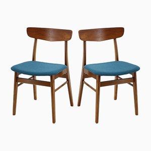 Scandinavian Modern Style Teak Dining Chairs, 1960s, Set of 6