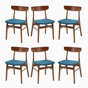 Scandinavian Modern Style Teak Dining Chairs, 1960s, Set of 6