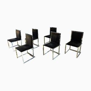 Esszimmerstühle von Romeo Rega, 1970er, 6er Set