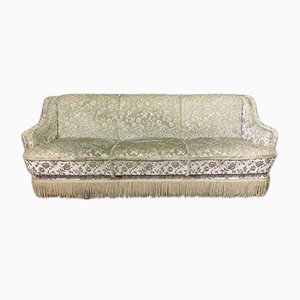 Mid-Century Fabric and Wood Sofa