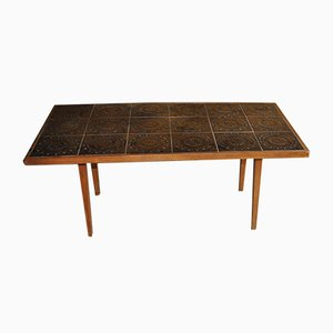 Danish Rosewood Ceramic Tile Coffee Table, 1960s