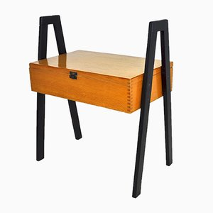 Mid-Century German Wooden Side Table, 1960s