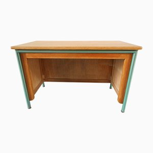 Vintage French Iron & Compressed Wood Desk, 1960s