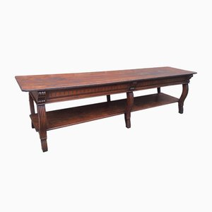 Antique Industrial French Fir Dining Table