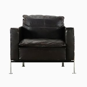 Mid-Century RH 302 Leather Lounge Chair by Robert Haussmann for de Sede