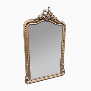 Französischer Spiegel mit Rahmen aus geschnitztem Holz, 19. Jh