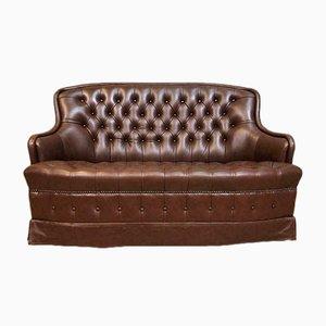 Mid-Century Chesterfield Sofa aus Leder, 1960er
