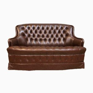 Mid-Century Leather Chesterfield Sofa, 1960s