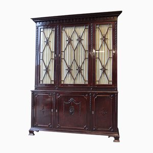 Antique Mahogany Bookcase Buffet